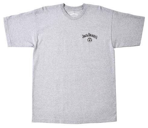 Jack Daniel's Men's Grey Whiskey Short Sleeve T-Shirt, Grey, hi-res