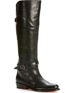 Frye Women's Dorado Riding Boots - Round Toe, Black, hi-res