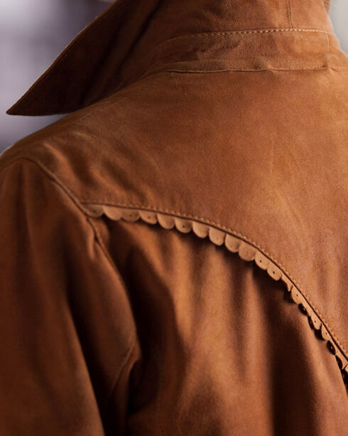 Ryan Michael Women's Allison Suede Leather Shirt, Tan, hi-res