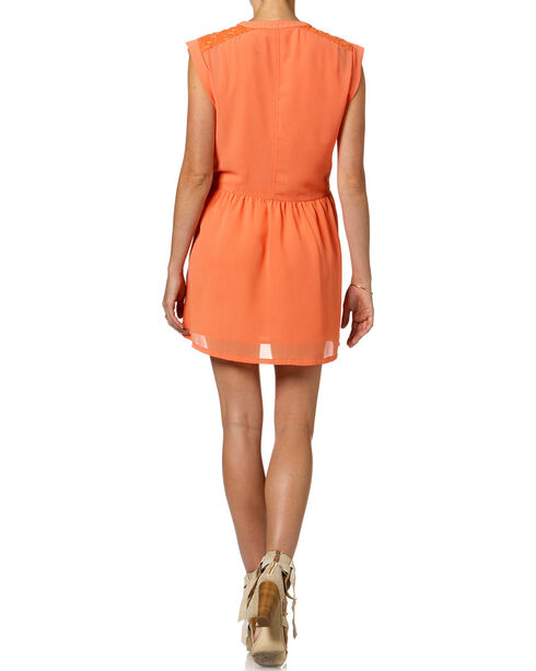 Miss Me Women's Sherbet Shirt Dress, Orange, hi-res
