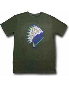 Hooey Men's First Headdress Graphic T-Shirt Olive, Olive, hi-res