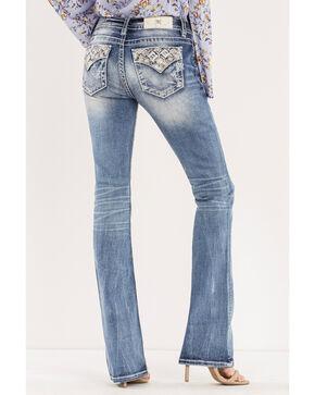Miss Me Women's Blue Such A Gem Mid-Rise Jeans - Boot Cut , Blue, hi-res