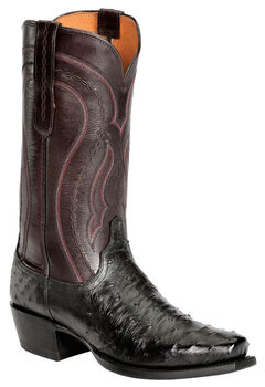 Lucchese Handcrafted 1883 Full Quill Ostrich Western Boots - Snoot Toe, , hi-res
