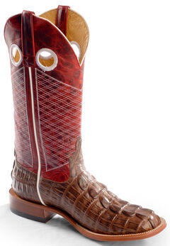 Horse Power Men's Caiman Tail Print Western Boots - Square Toe, , hi-res