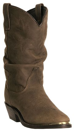 Dingo Marlee Slouch Cowgirl Boots - Round Toe, Brown, hi-res