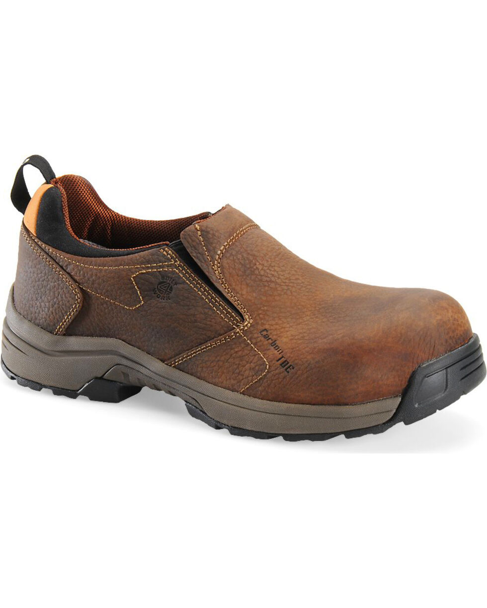 Carolina Men's Brown Lightweight ESD Slip-On Shoes - Carbon Composite Toe, Brown, hi-res