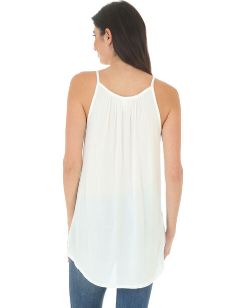 Wrangler Women's Ivory Braided Front Sleeveless Top , Ivory, hi-res