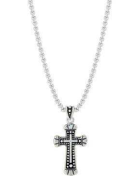 Montana Silversmiths Bead and Flourish Cross Necklace, Silver, hi-res