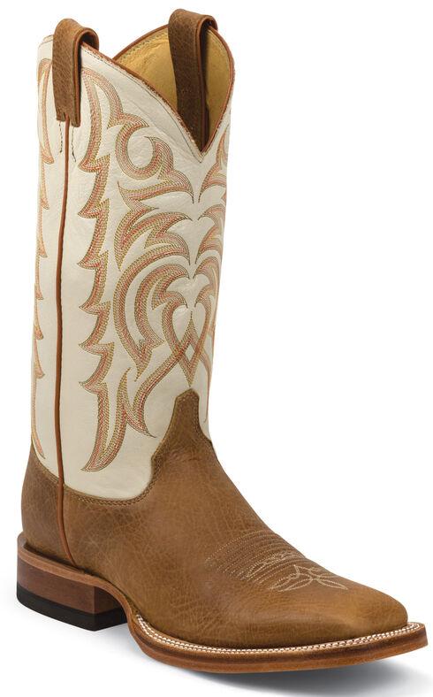 Justin Cognac Delta Cowboy Boots - Square Toe, Cognac, hi-res