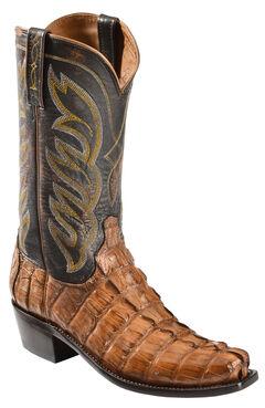 Lucchese Men's Landon Caiman Tail Cowboy Boots - Narrow Square Toe, , hi-res