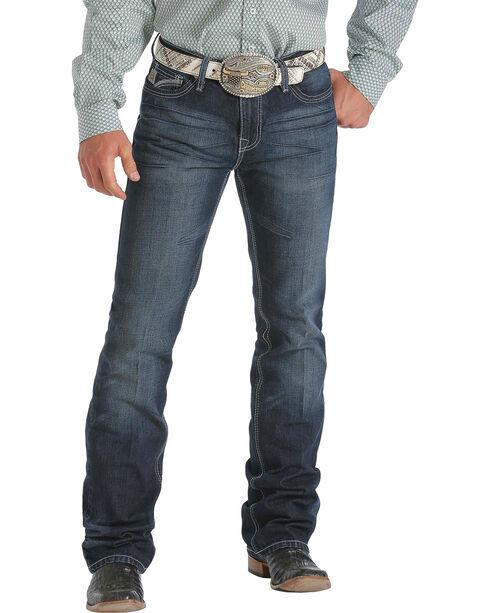 "Cinch Men's Ian Mid-Rise Slim Bootcut Jeans - 38"" Inseam, Dark Stone, hi-res"