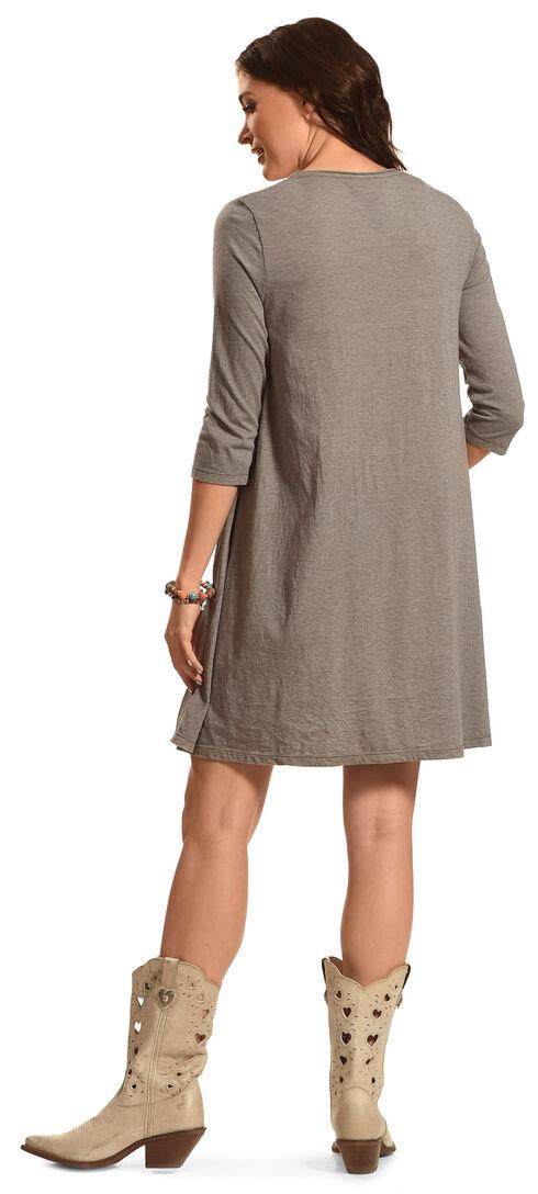 Johnny Was Women's Dorana 3/4 Sleeve Draped T-Shirt Tunic, Grey, hi-res