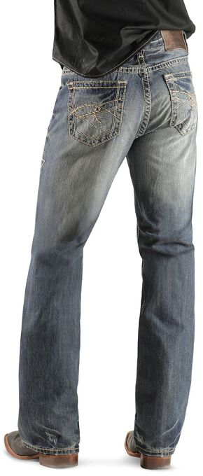Rock & Roll Cowboy Double Barrel Abstract Pocket Jeans, Light Navy, hi-res