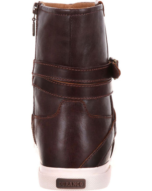 Durango Women's Brown Music City Belted Booties - Round Toe , Brown, hi-res