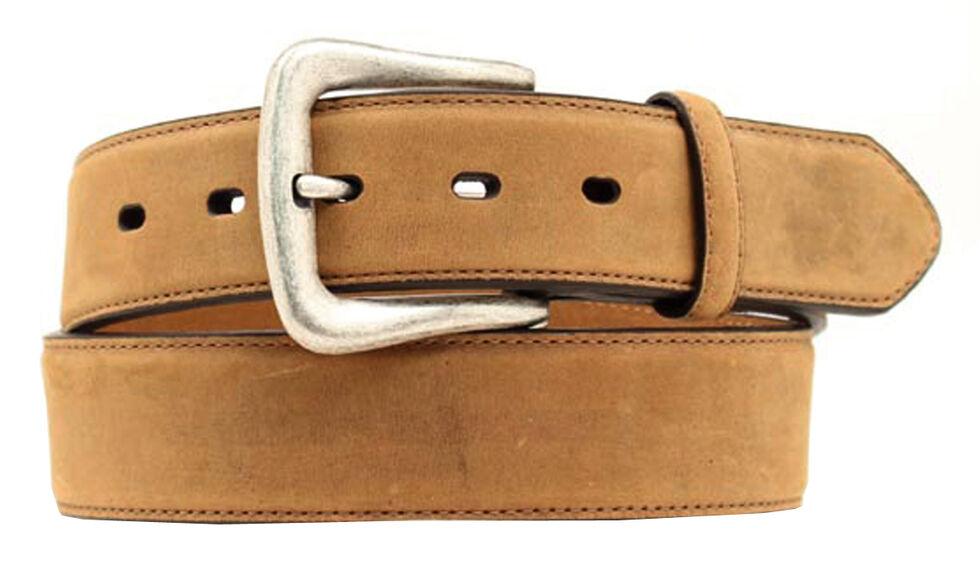 Nocona Basic Leather Belt - Big, Med Brown, hi-res
