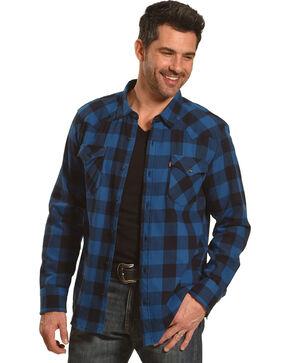 Levi's Men's Lassen Buffalo Plaid Button Down Shirt, Blue, hi-res