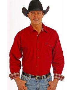 Panhandle Slim Men's Burgundy Print Snap Western Shirt , , hi-res
