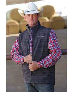 Cinch Men's Printed Bonded Concealed Carry Vest, Black, hi-res