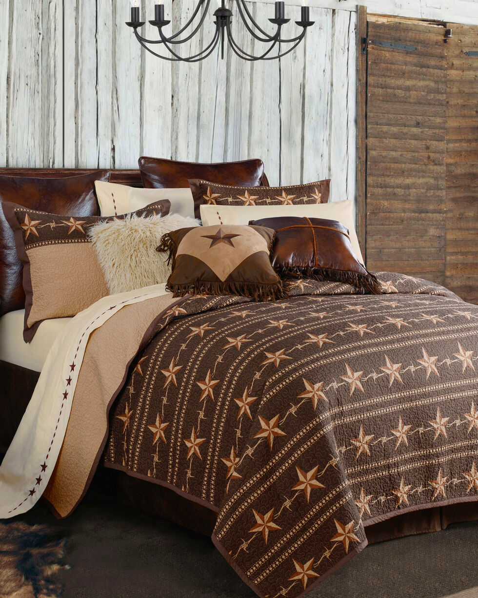HiEnd Accents Star Ranch 3-Piece Quilt Set - Full/Queen, Brown, hi-res
