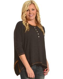 Tasha Polizzi Women's Taylor 3/4 Sleeve Shirt, Black, hi-res