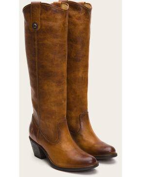 Frye Women's Cognac Jackie Button Tall Boots - Round Toe , Cognac, hi-res