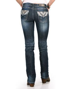 Grace in LA Women's Camo Printed Jeans - Boot Cut , Blue, hi-res