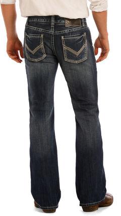 Rock & Roll Cowboy Men's Indigo Pistol Flat Seam Jeans - Boot Cut , , hi-res