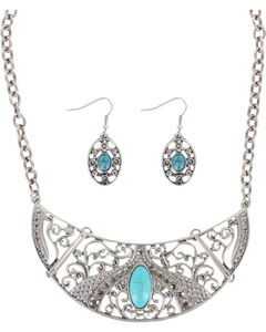 Shyanne Women's Turquoise Jewelry Set , Silver, hi-res