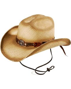 Bulllhide Star Central Straw Cowboy Hat, , hi-res