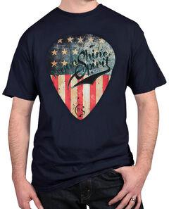 Moonshine Spirit Men's American Guitar Pick T-Shirt, Navy, hi-res