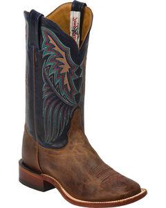 Tony Lama Tan Saigets San Saba Cowgirl Boots - Square Toe, , hi-res