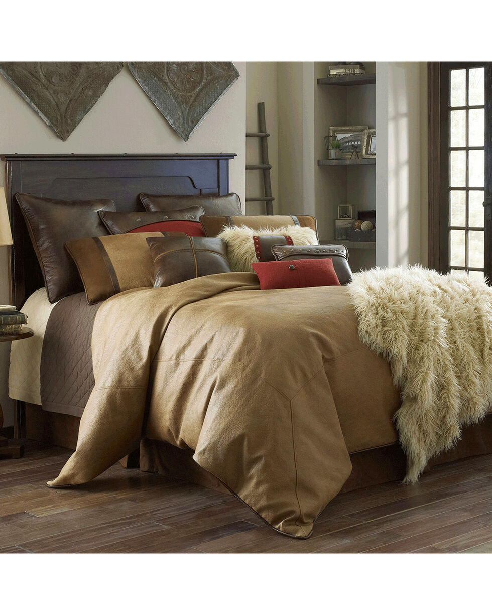 HiEnd Accents Brighton Twin Size 3-Piece Bedding Set, Tan, hi-res