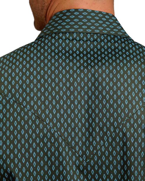Stetson Men's Vintage Leaf Print Long Sleeve Shirt, Hunter Green, hi-res