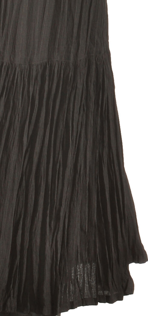 "Pink Cattlelac Women's Black Crinkle Skirt - 36"" , Black, hi-res"