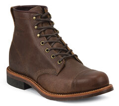 Chippewa Men's Pebbled General Utility Homestead Boots - Round Toe, , hi-res