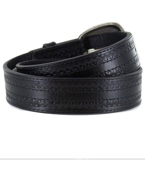 Cody James Men's Black Engraved Belt , Black, hi-res