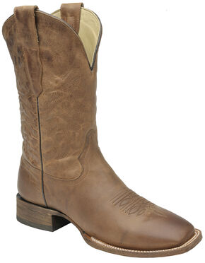 Corral Waxi Brown Cowboy Boots - Square Toe , Cognac, hi-res