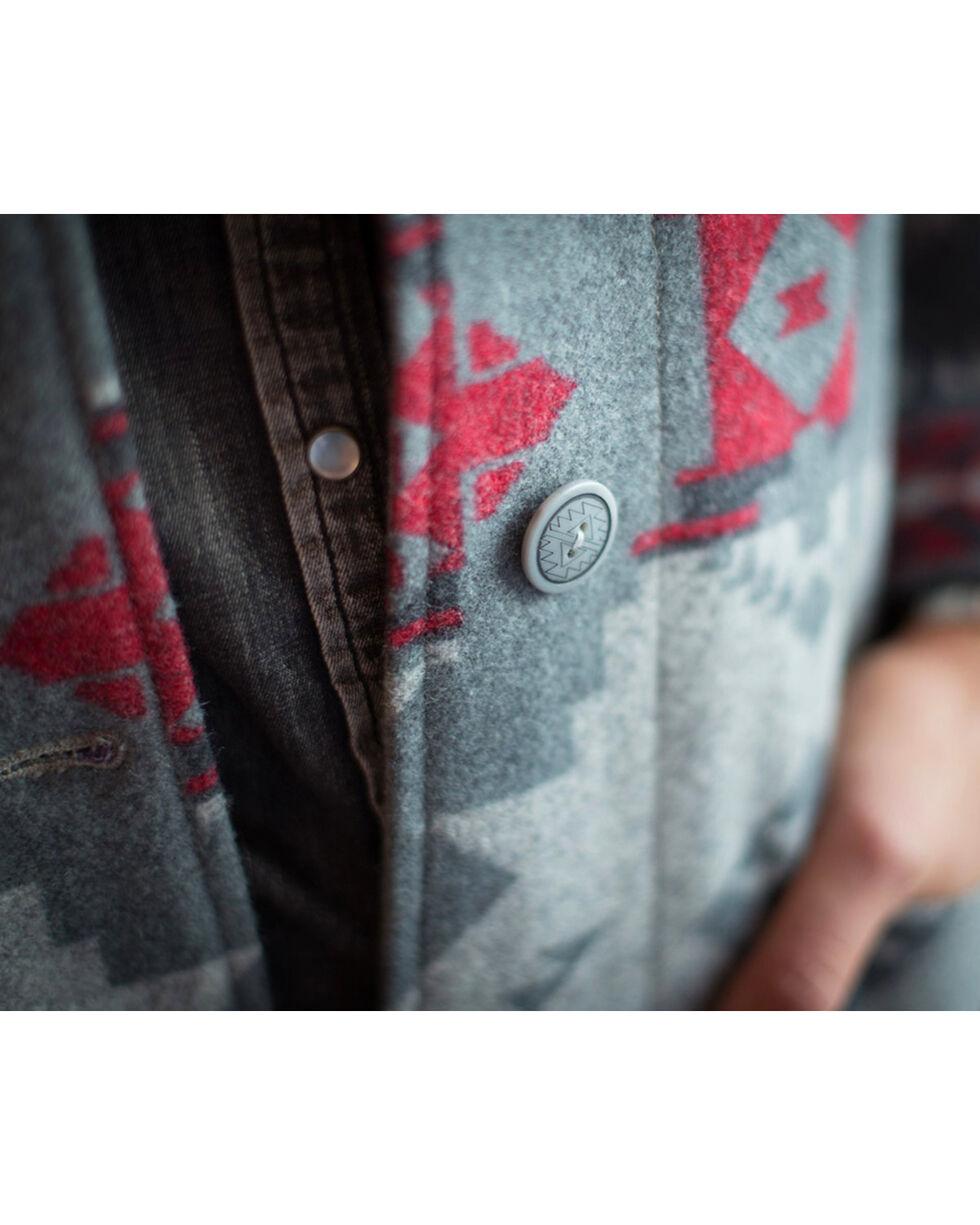 Ryan Michael Women's Grey Wool Blanket Jacket , Grey, hi-res