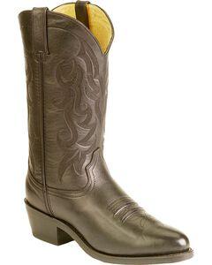 Durango Leather Cowboy Boots, Black, hi-res