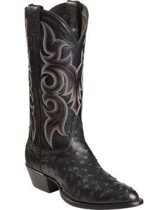 Nocona Full Quill Ostrich Cowboy Boots - Medium Toe, , hi-res