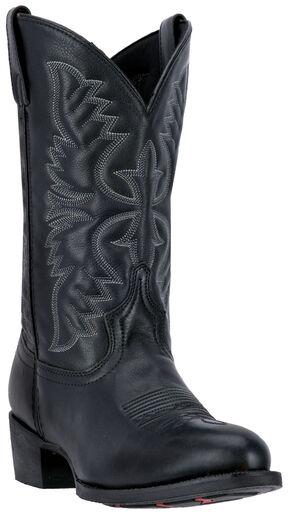 Laredo Birchwood Cowboy Boots - Round Toe , Black, hi-res