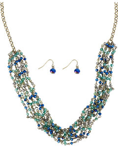 Shyanne Women's Turquoise Crystal Jewelry Set , Turquoise, hi-res