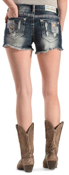 Grace in L.A. Women's Patch Cut-Off Shorts, Denim, hi-res