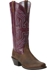 Ariat Women's Round Up Buckaroo Cowgirl Boots - Square Toe, , hi-res