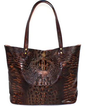 SouthLife Supply Women's Chocolate Croc Square Tote, Chocolate, hi-res