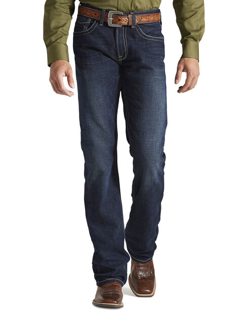 Ariat Denim Jeans - M5 Roadhouse Relaxed Fit - Big & Tall, Med Wash, hi-res
