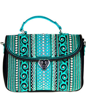Montana West Women's Bling Bling Collection Satchel/Crossbody Bag, Black, hi-res
