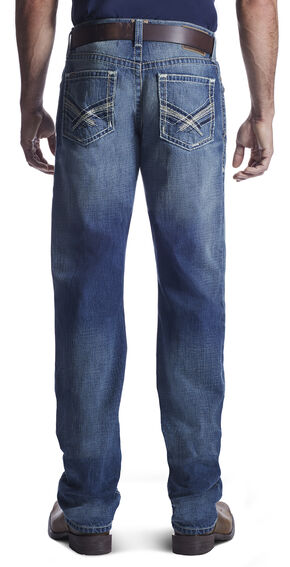 Ariat Men's M2 Kingston Rowell Boot Cut Jeans , Med Blue, hi-res