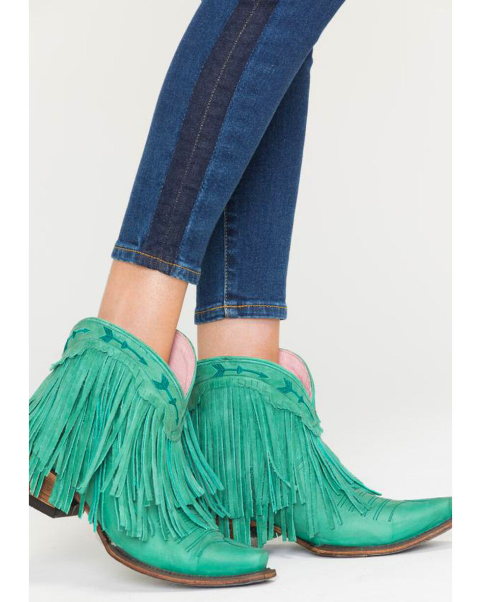 Junk Gypsy by Lane Women's Turquoise Spitfire Boots - Snip Toe , Turquoise, hi-res