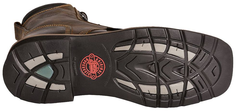 """Justin Men's Stampede Pulley 8"""" Lace-Up Work Boots - Steel Toe, Rugged, hi-res"""